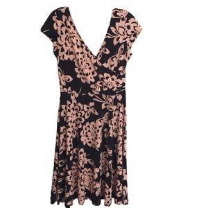 London Times faux wrap dress size 10 EUC